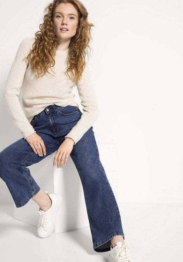 Jeans Wide Leg Cropped aus Bio-Denim