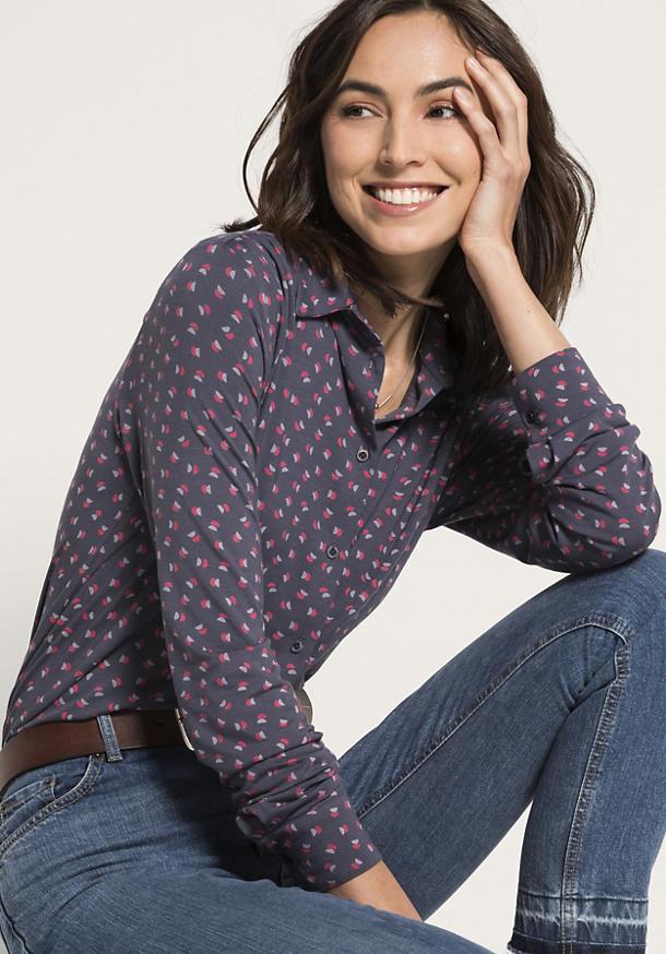 Jersey-Bluse aus Modal