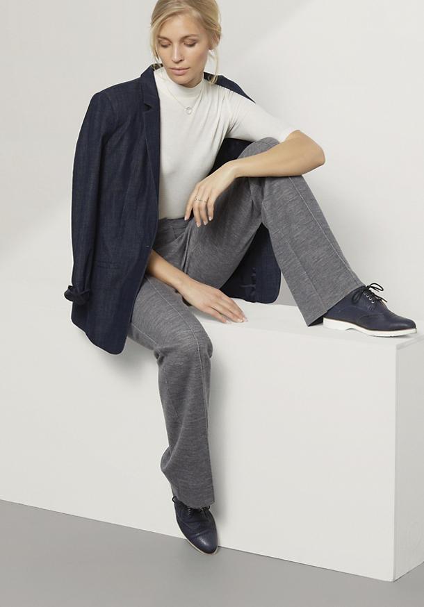 Jersey-Hose aus Bio-Baumwolle und Bio-Schurwolle