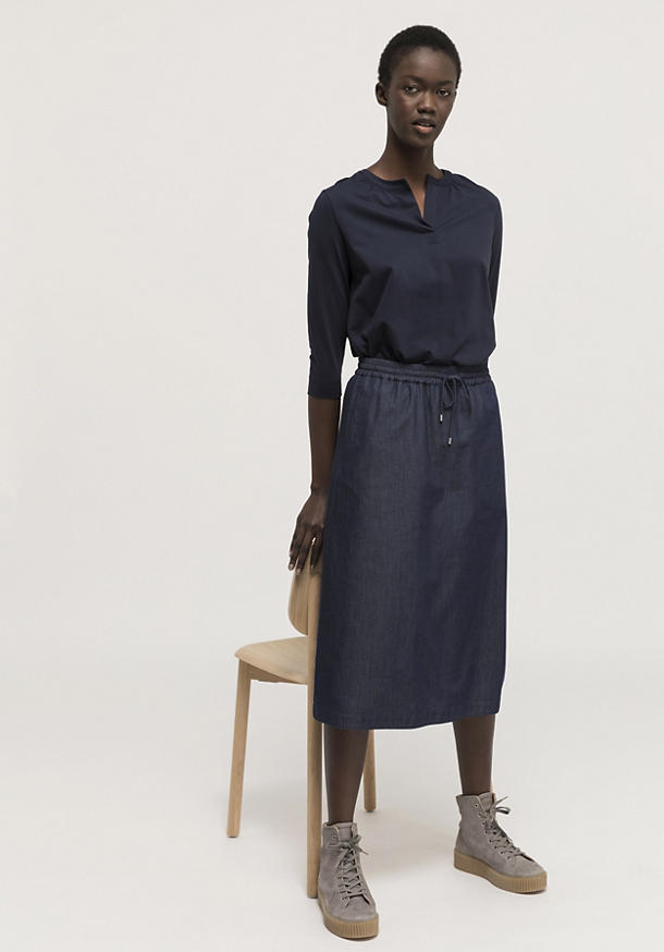 Jersey blouse made of pure Pima organic cotton
