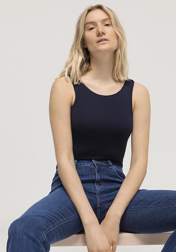 Jersey top made of TENCEL ™ Modal