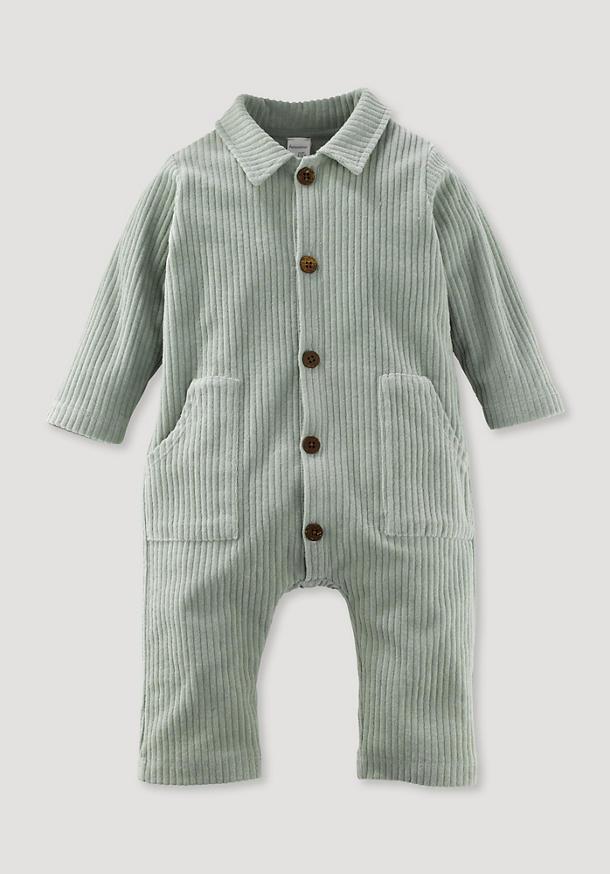 Jerseycord-Overall aus reiner Bio-Baumwolle