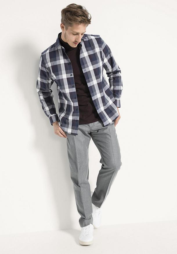 Karo-Hemd Modern Fit aus reiner Bio-Baumwolle