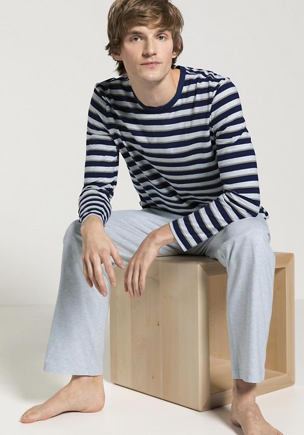 Langer Pyjama aus reiner Bio-Baumwolle