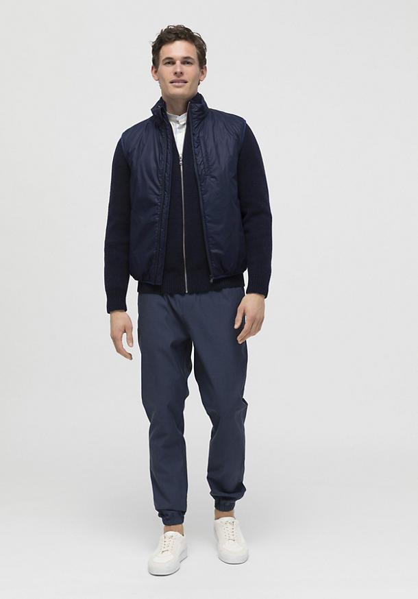 Lightweight Nature Shell vest with wool kapok padding