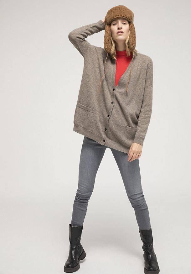 Limited by Nature cardigan made of pure yak wool