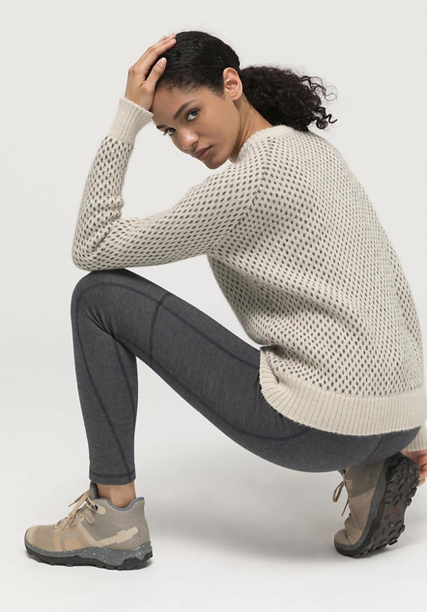 Limited by nature outdoor sweater made of alpaca with rhön wool