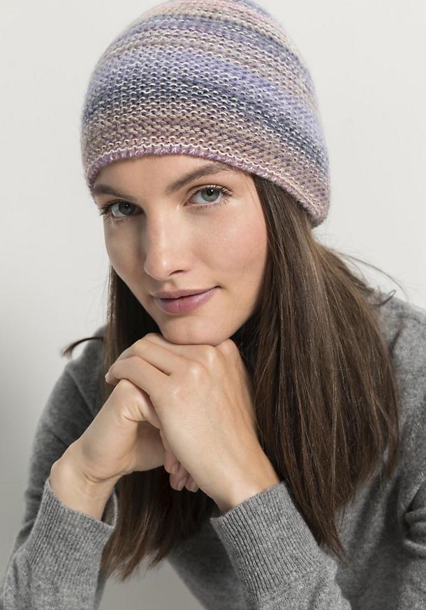 Mütze aus Schurwolle mit Alpaka