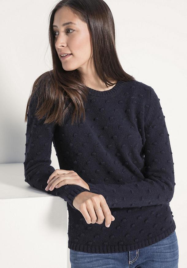 Pullover aus Alpaka mit Schurwolle