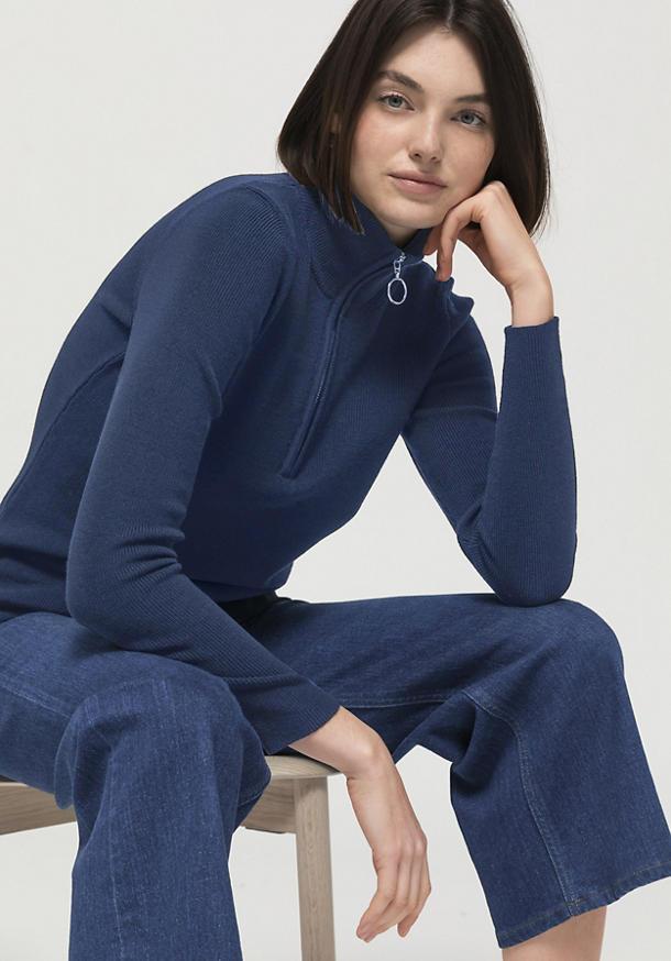 Pullover aus Bio-Baumwolle und Bio-Schurwolle