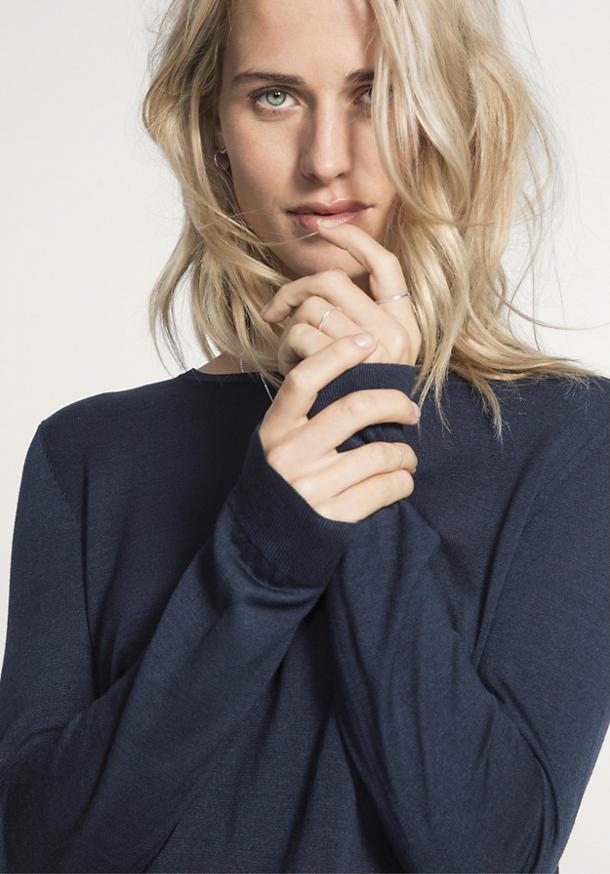 Pullover aus reiner Eri-Seide