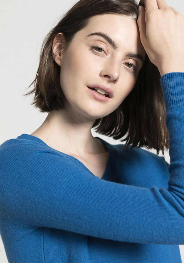 Pullover aus reiner Schurwolle mit Kaschmir