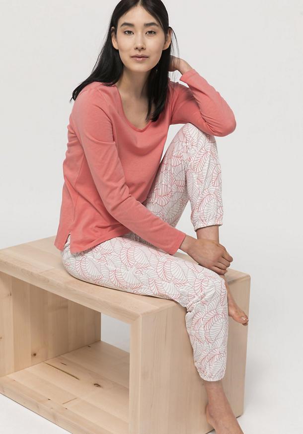 Pyjama-Hose aus Bio-Baumwolle mit Seide