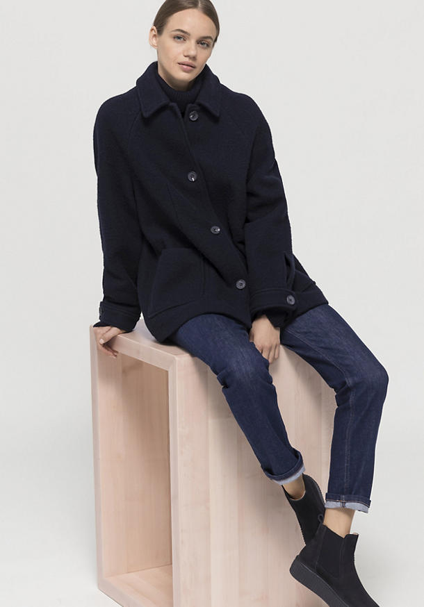 Raglan-Jacke aus reiner Merinowolle