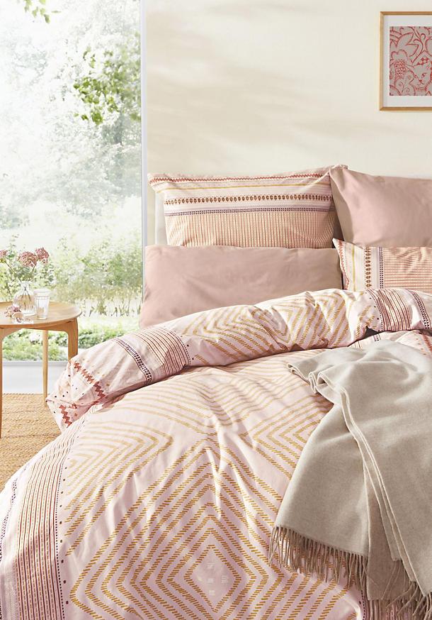 Renforcé-Bettwäsche Jeberos aus reiner Bio-Baumwolle