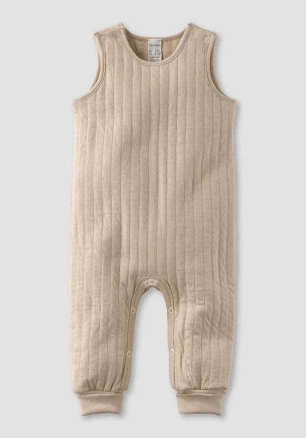 Romper with padded quilted look made of pure organic cotton