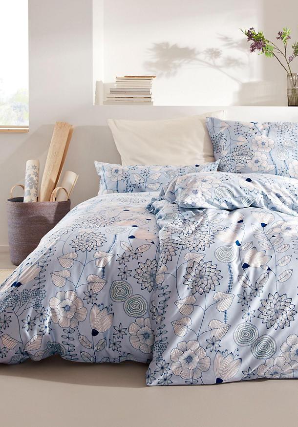 Satin-Bettwäsche Akina aus reiner Bio-Baumwolle