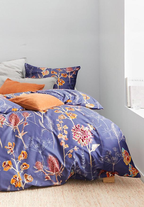 Satin-Bettwäsche Pernille im Set aus reiner Bio-Baumwolle