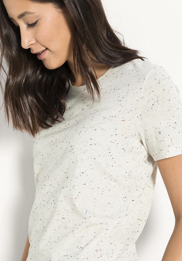 Shirt mit Effektgarn aus reiner Bio-Baumwolle