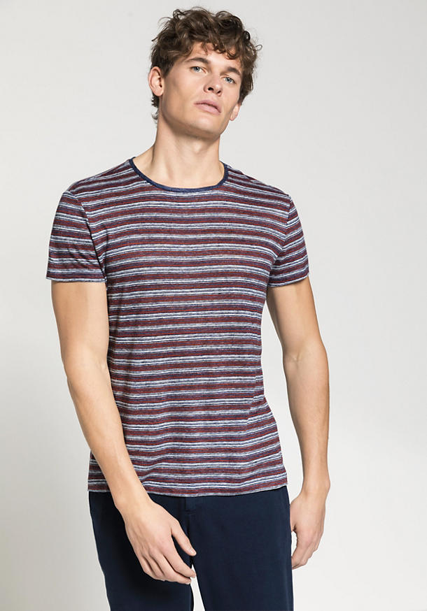 Stripe shirt made of pure linen
