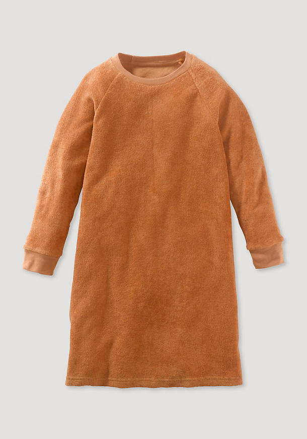 Terrycloth nightgown made from pure organic cotton