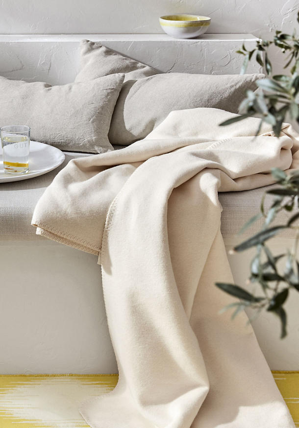 Velor blanket, bed recycling, made from pure organic cotton