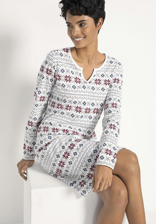 Winter-Nachthemd aus reiner Bio-Baumwolle