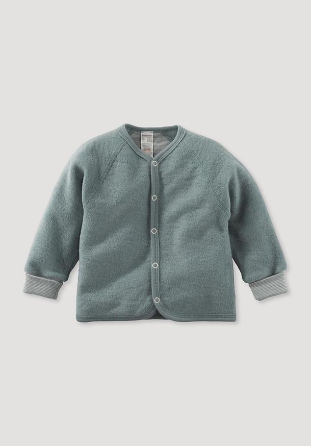 Wool terry jacket made from pure organic merino wool