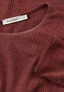 Ajour shirt made of organic cotton with virgin wool