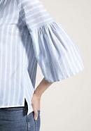 Bluse aus Bio-Baumwolle mit Leinen