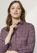 Bluse aus Bio-Baumwolle mit Seide und Hanf