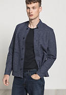Boiled Wool jacket made of virgin wool with organic cotton