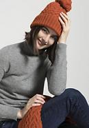 Bommel-Mütze aus reiner Schurwolle