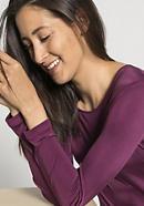 Damen Langarm-Nachthemd aus reiner Bio-Seide