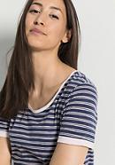 Damen Ringelshirt aus reiner Bio-Baumwolle