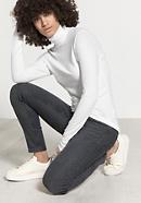 Damen Rollkragen-Shirt aus Modal mit Schurwolle