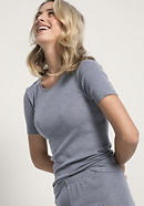 Damen Shirt PureSTRIPES aus Bio-Merinowolle und Seide