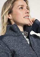 Damen Strick-Fleecejacke aus reiner Bio-Merino-Wolle
