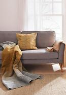Decke Amber aus reiner Bio-Baumwolle