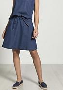 Denim skirt made of organic cotton with linen