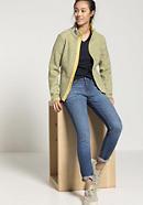 Fleece-Jacke aus Bio-Merinowolle mit Bio-Baumwolle