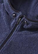 Fleece-Kapuzenjacke aus reiner Bio-Baumwolle