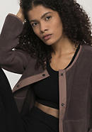 Fleece jacket made from pure organic cotton