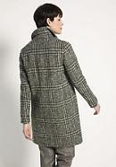 Glencheck-Mantel aus reiner Schurwolle