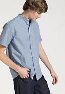 Hemd Comfort Fit aus Bio-Baumwolle mit Leinen und Kapok