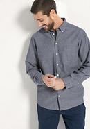 Hemd Comfort Fit aus Bio-Baumwolle und Seide