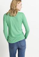 Henleyshirt aus Bio-Baumwolle mit Hanf