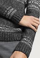 Herren Norweger-Pullover aus Schurwolle mit Alpaka