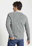Herren Pullover aus Schurwolle mit Bio-Baumwolle