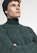 Herren Rollkragen-Pullover aus Schurwolle mit Kaschmir